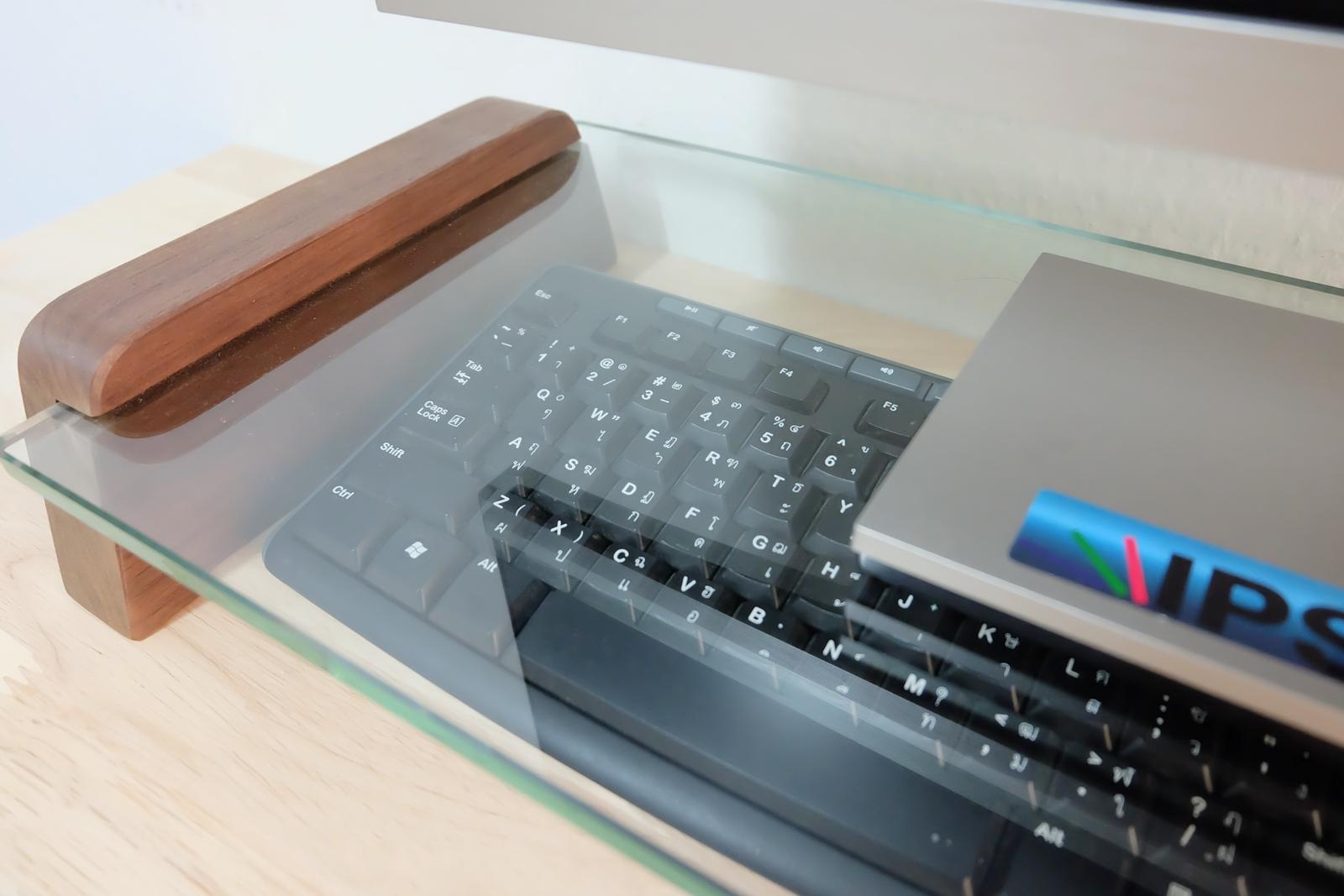 ชั้นวางจอคอมพิวเตอร์ รุ่น kk stand มุมซ้าย